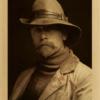 EDWARD S. CURTIS SELF PORTRAIT no.76, 1899, 25x 17cm